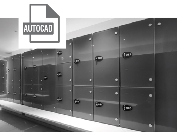 Lockers AutoCad File