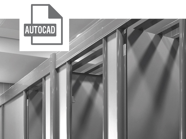 Suspended Cubicles AutoCad File