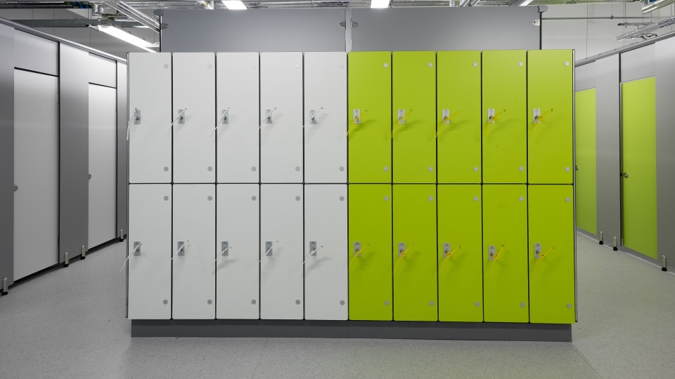 Laminate Lockers Wet Aluminium Lockers